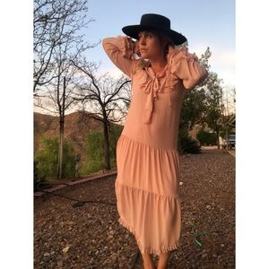 We Are Kindred Blush Ruffle Dress
